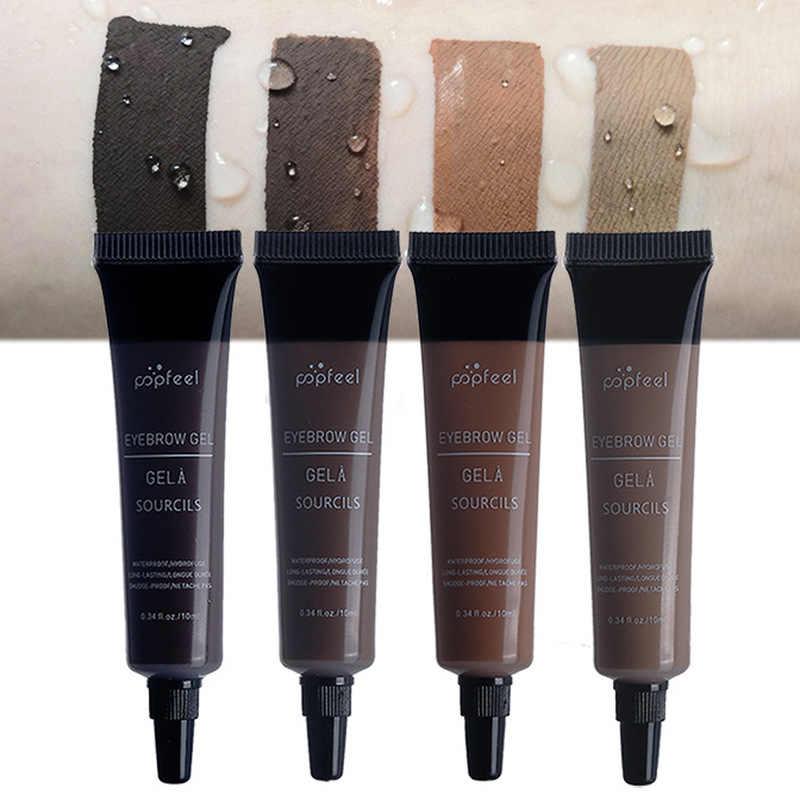 4 colori Nero Marrone Liquido Gel Sopracciglio Impermeabile Sopracciglia Crema Micro Blading Del Tatuaggio Del Sopracciglio Migliorare Strumento TSLM2