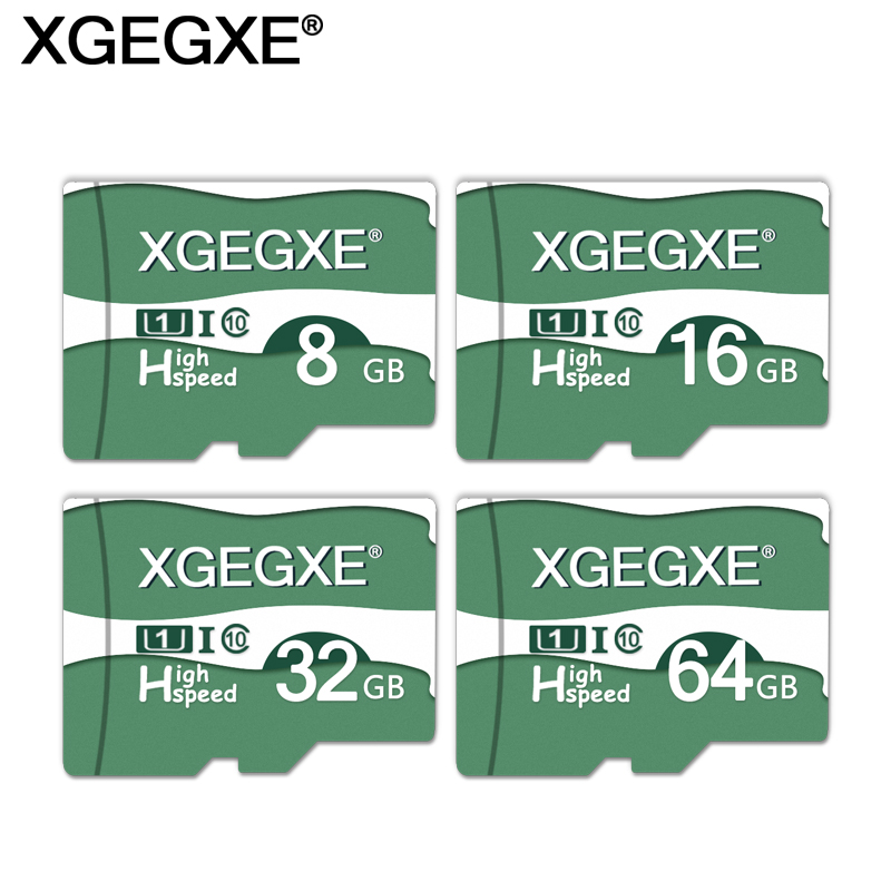 Memory Card 64GB 32GB 16GB 8GB TF Flash Card High Speed UHS-I XGEGXE Storage Card Transflash Card With Adapter For Phone