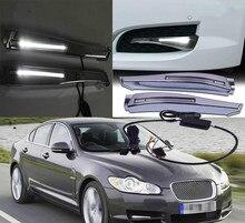 цена на 1 Pair Car 12V White Led Daytime Running Lights DIY Fog Lights Drl Lamp With Harness For Jaguar XF 2008 2009 2010 Styling