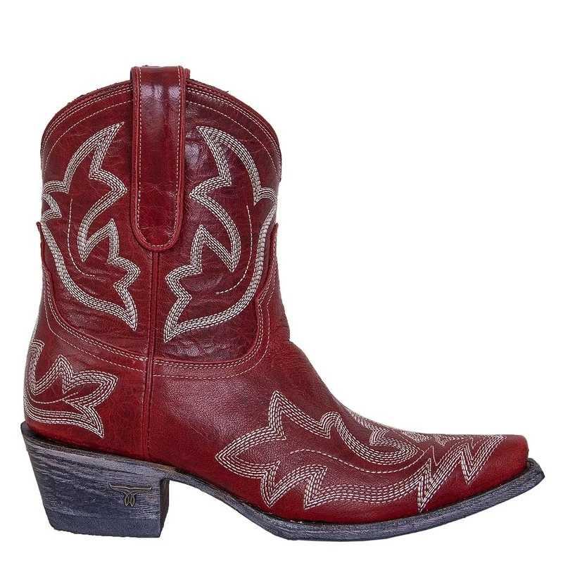 ECN/Новинка 2019 года; женские ботинки на квадратном каблуке с вышивкой; сезон осень-зима; женская обувь размера плюс; женские ковбойские ботинки на низком каблуке; ботильоны
