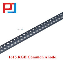 200 pc/lote smd 0603 1616 1615 0606 rgb cor completa 0805 vermelho/verde/azul ânodo comum led pular 1.6*1.6*0.6mm diodo emissor de luz