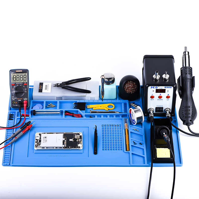Working-Mat Insulation-Pad Soldering Silicone Welding ESD with Magnet High-Temperature-Resistance