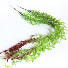 100CM Simulation Willow Leaves Green Plant Hanging Vine Artificial Wall Ceiling Decoration Home Garden Plastic Willow Rattan barbour neuston twill willow green page 6