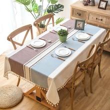 Plaid Decorative Linen Tablecloth…