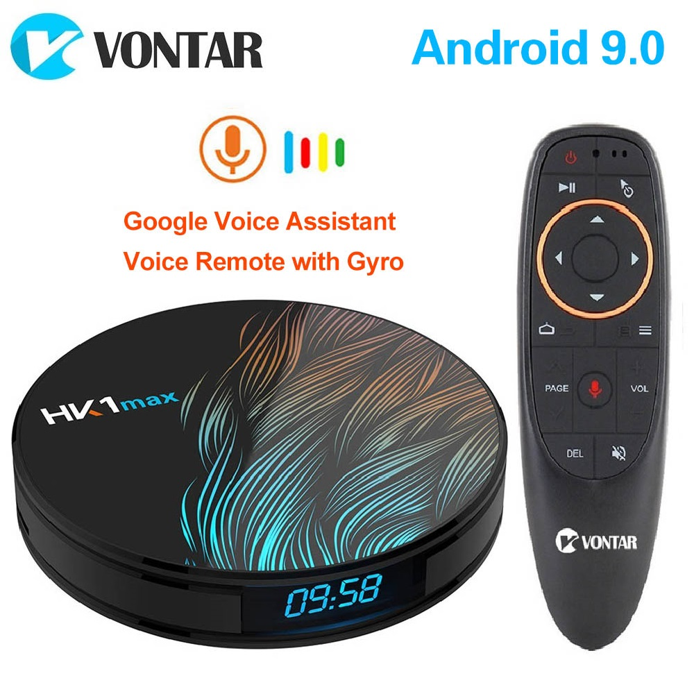 2020 Smart TV Box HK1 Max Android 9.0 4GB 128GB 64GB 32GB Rockchip 4K Youtube Wifi Netflix Android TV Set top Box 2GB16GB(China)