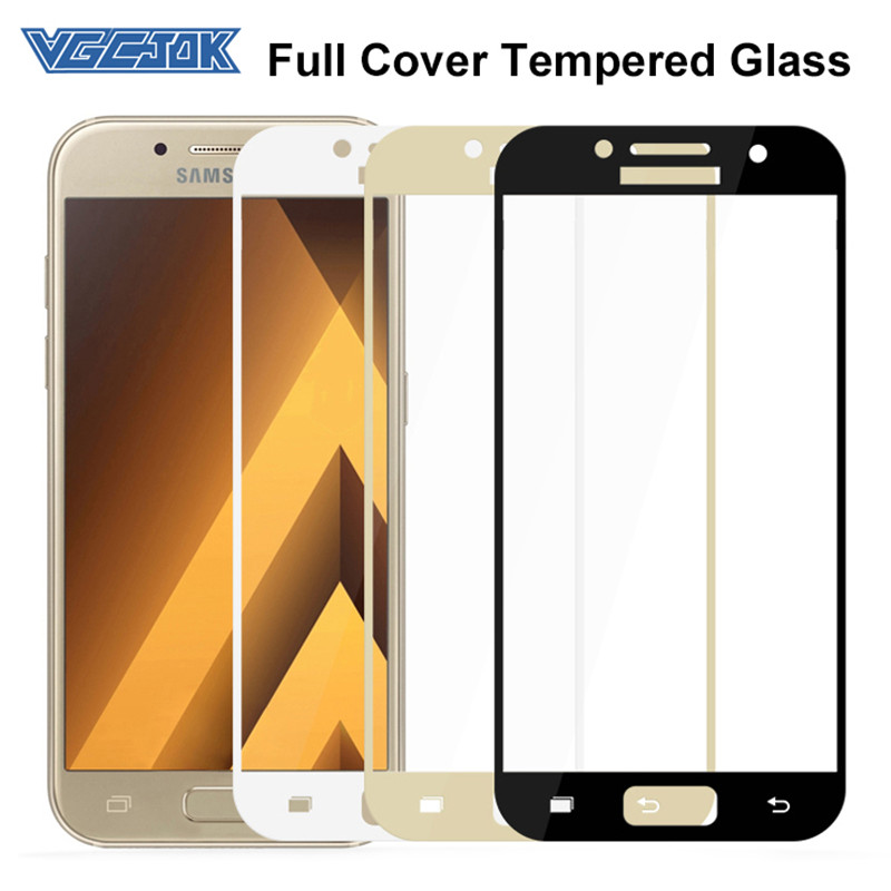 VGCJOK Full Cover Tempered Glass For Samsung Galaxy A3 A5 A7 J3 J5 J7 2016 2017 S7 Protective Glas 9D Screen Protector Film Case