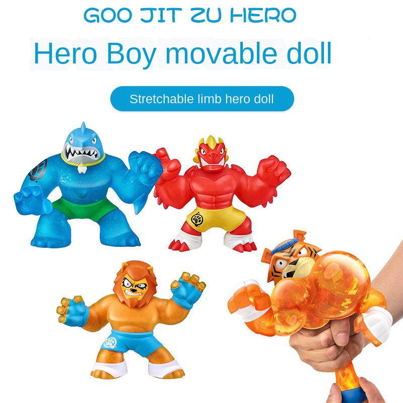 GOO Jit Zu Copy Software Vs Soft Shark Lion Wolf Toy Slimy Stress Relief Squeeze Hobby Dolls Accessories Kid Toy Gift