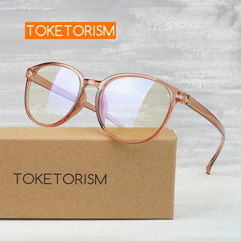 Toketorism Plastic Frame Men Bluelight Glasses Women Blue Blocking Gaming Glasses For Women 2589