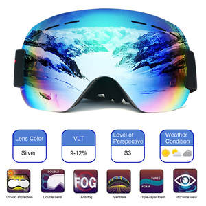 Ski Goggles Glasses Gear Snowboard Skiing Anti-Fog Large Sport Women Dual-Lens Sand-Proof