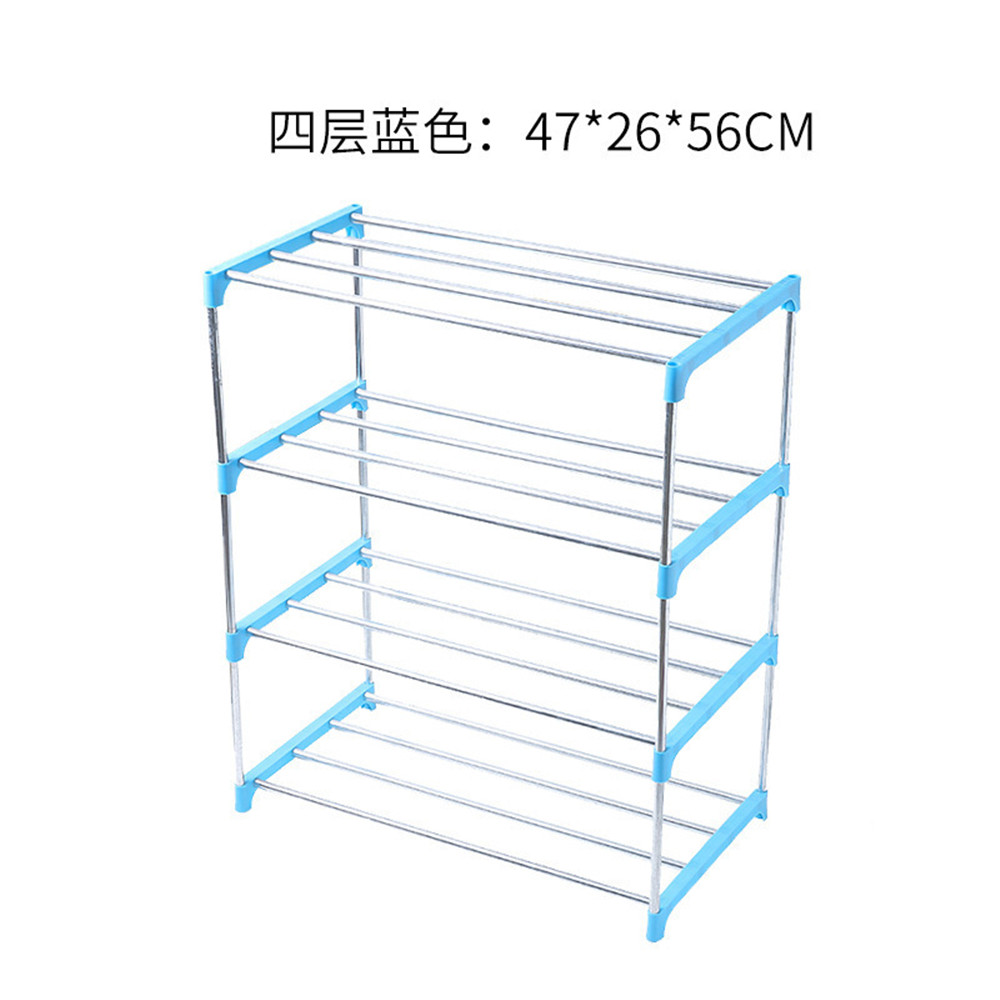 Children'S Shoe Rack Trumpet 3 Layer 4 Layer Simple Shoe Rack Shoemaker Stainless Steel Assembly Home Dustproof Dormitory Storag