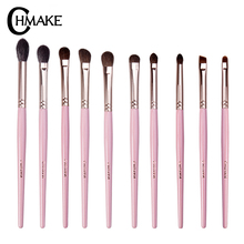 CHMAKE Professional 10PCS Eye Shadow Eyebrow Brush Makeup Brushes Cosmetic Tool Make Up  Set Goat horse synthetic hair