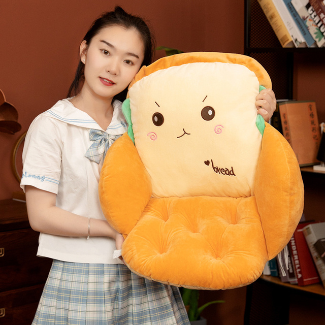 40*40*35cm Stuffed Sandwich Seat Cushion Emotional Food Plushie Surrounded Chair Sofa Jointed Bread Pillow Winter Decoration 2