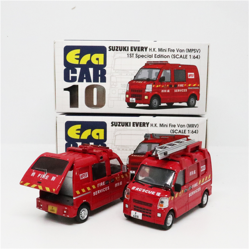 Era Car 1:64 SUZUKI EVERY H.K. Mini Fire Van MRV/MPSV 1st Special Edition Diecast Model Car