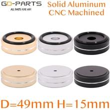 49 × 15 ミリメートルフルアルミニウムスピーカーキャビネットターンテーブル分離機足スタンドチューブアンプ、dac、cdプレーヤーラジオマットパッド