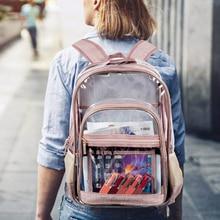 Transparent Female Backpack School Bags for Teenage Girls Summer Fashion New Backpacks Fashion Women Korean Style Backpack