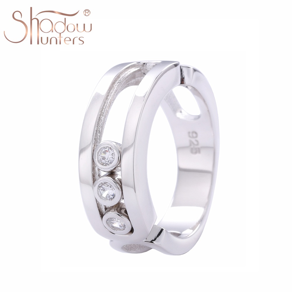 SHADOWHUNTERS Real 100% 925 Sterling Silver Move Stone Women Wedding Rings Sterling Silver Jewelry Wholesale