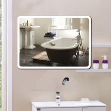 1pcs Smart Rectangular Silver Coating High Quality Reflection Three Color Led Bathroom Mirror Can Be Used In Family Hotels Hwc
