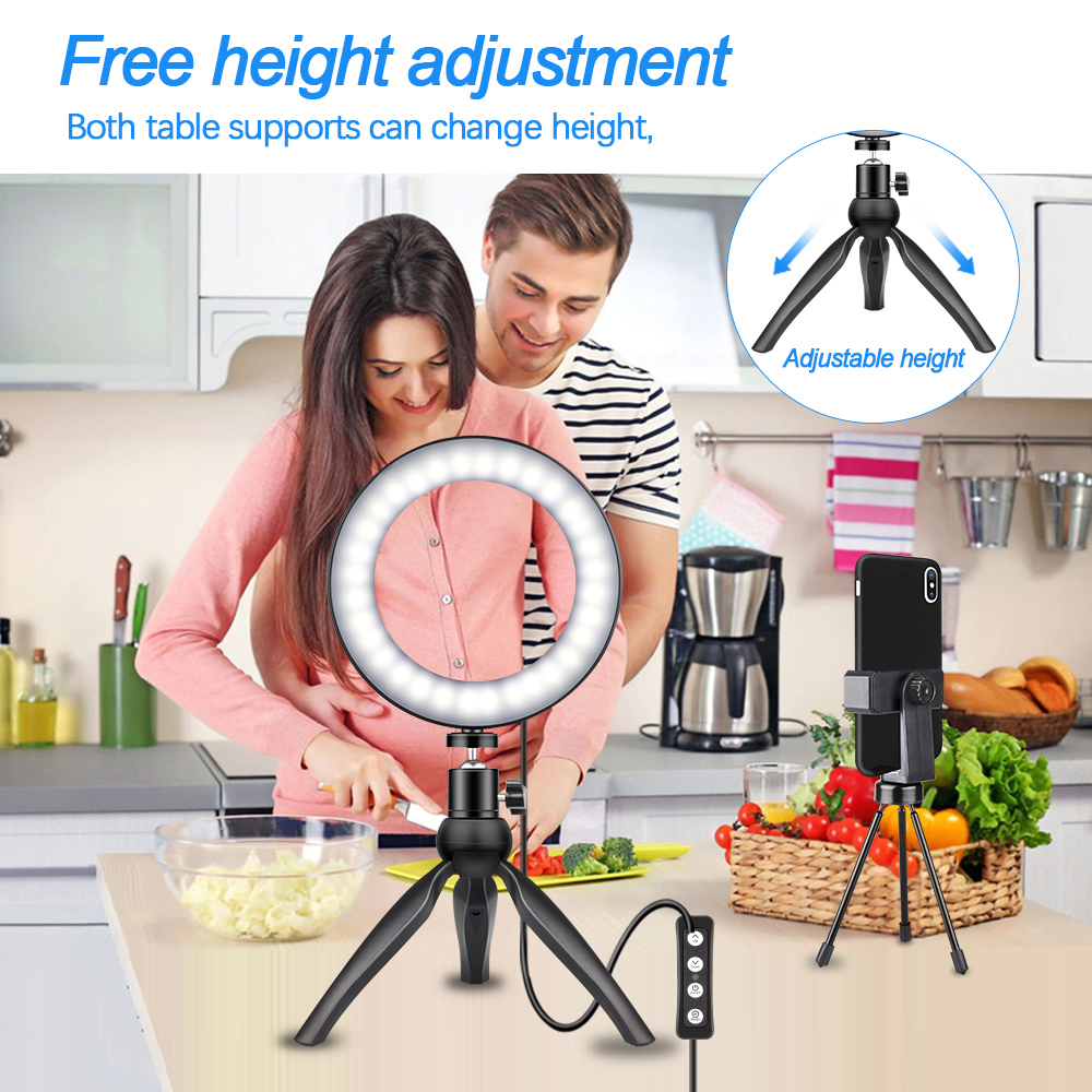 Selfie Ring Light  Novelty Lights Photo Studio Photography Photo Ring Lamp With Tripod For Iphone Yutube Makeup Facebook