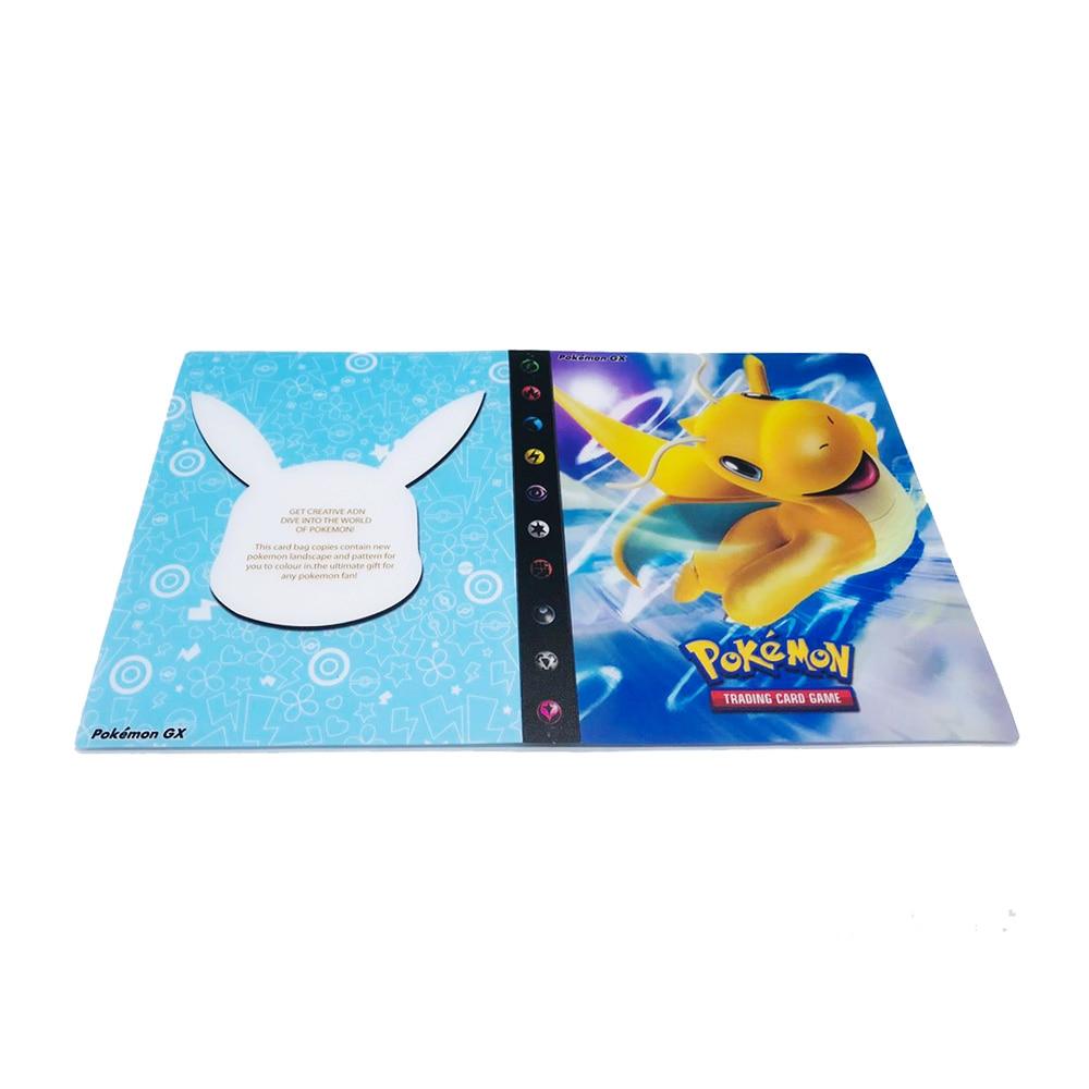 240 шт. держатель Альбом игрушки коллекции pokemones карты Альбом Книга Топ загруженный список игрушки подарок для детей - Цвет: 6