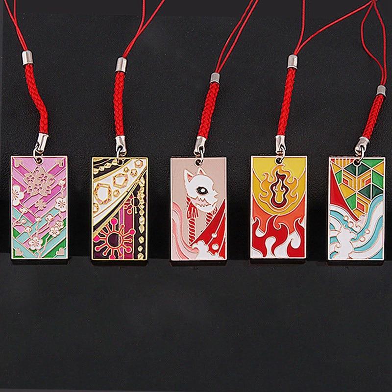 Брелок для ключей Kamado Tanjirou Kamado-Nezuko Tomioka Giyuu, металлический брелок для ключей, 1 шт.
