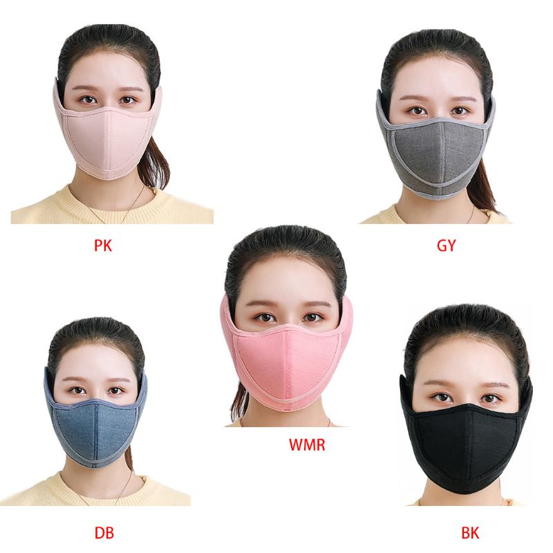 2019 Winter Warm Adults Mask Open Nose Breathable Outdoor Anti Dust Men Women Ski Bicycle Riding Masks