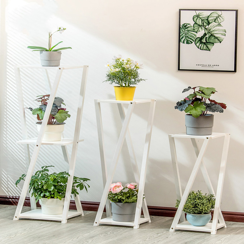 Shelf A Living Room Room Domestic And Foreign Green Luo Chlorophytum Flowerpot Frame Multi-storey Simple And Easy Flower Airs
