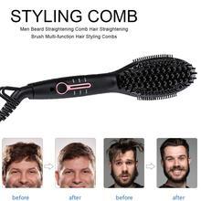 Ionic Beard Straightener Comb Upgrade Quick Beard Styler Comb Ionic Electric Beard Straightening Hair Straightening Brush New