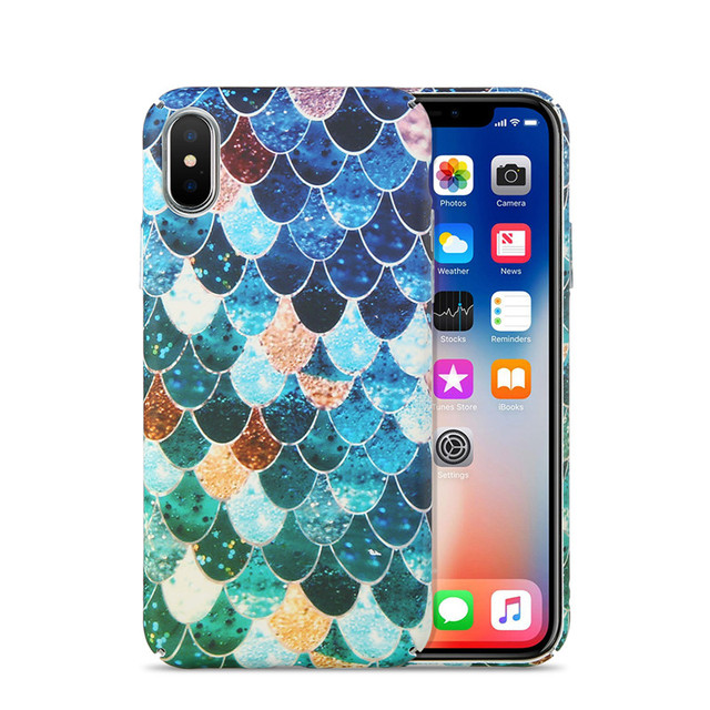 Kisscase Colorful Fish Scale Case For Iphone 7 6 6s 8 Plus X