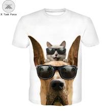цена на Summer 2020  A T-shirt for boys 3D print T-shirt big shark turtle animal design The boy's T-shirt Marvel harajuku  boys' wear