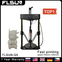 Flsun Q5 3D 프린터 DELATA 터치 스크린 USB TMC 2208 자동 드라이버 자동 레벨 이력서 인쇄 사전 조립 32 비트 보드 Kossel
