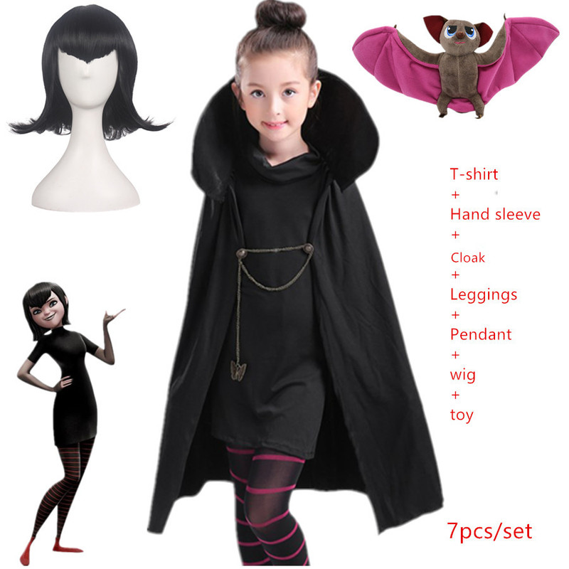 New Year Christmas Halloween Costumes For Girls Carnival Hotel Transylvaniad Mavis Cosplay Fancy Dress Vampire Child Adult Women