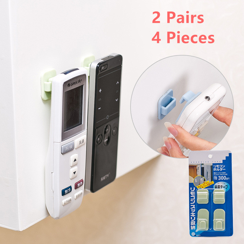 2 Pairs Sticky Hooks Kit For TV Air Conditioner Remote...