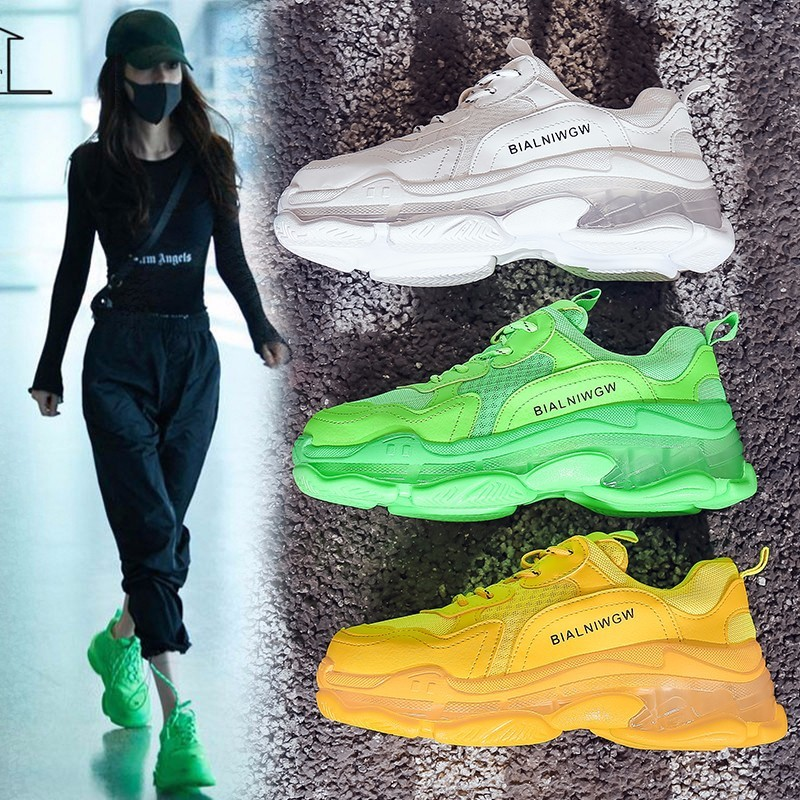 Soft Casual Thick Sneaker Platform Summer Breathable Mesh Women's Shoes Flat Casual Sports Shoes Female 2020