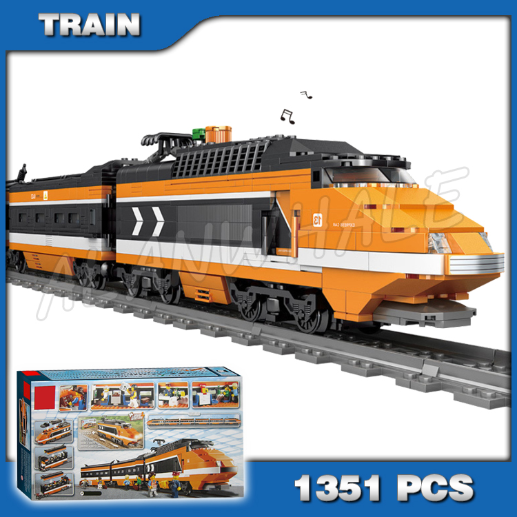 1351pcs Train Series Creator High speed Horizon Express DIY 3D Model Building Kit Blocks ChildrenToys Compatible With image