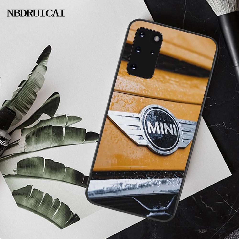 NBDRUICAI İngiltere Mini Cooper Jcw Logo siyah TPU yumuşak telefon kılıfı kapak için Samsung S20 artı ultra S6 S7 kenar s8 S9 artı S10 5G