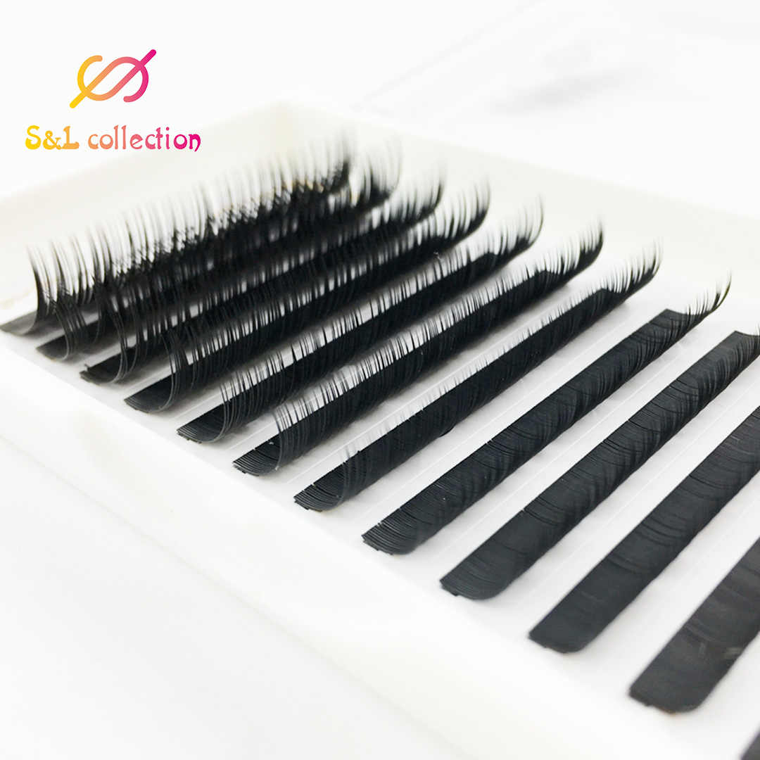 Tutto il formato Facile Da Ventole 3D Estensioni Ciglia di Seta Individuale Falso Ciglia Di Seta B/C/D Curl ciglia finte, russo del volume