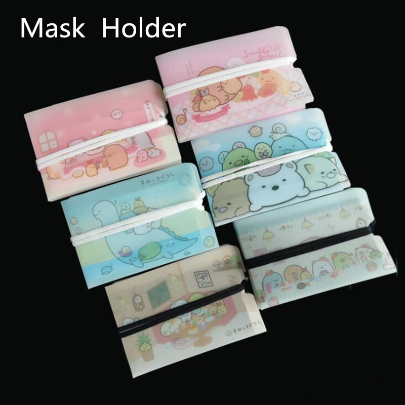 6pc 2020 New Face Mask Holder Cover Storage Supplies Holder Protective Case Protection Plastic Sheet Washable Mask Holder