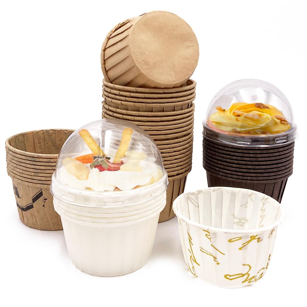 50 шт кекс Бумага чашки маслостойкая форма для порционного кекса выпечки чашки лоток чехол Свадебная вечеринка Caissettes Золотой Muffin обертка Бу...