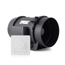 Ménage ventilateur d'échappement conversion de fréquence ronde conduit ventilateur cuisine puissant ventilateur d'échappement huile fumée d'échappement ventilateur moxibustion machine