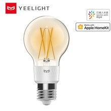 Умная Светодиодная лампа накаливания Mijia yeelight YLDP12YL 700 люмен 6 Вт лимонная умная лампа работает с Apple homekit