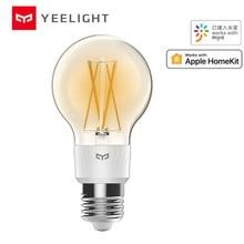 Mijia yeelight akıllı LED Filament ampul YLDP12YL 700 lümen 6W limon akıllı ampul ile çalışmak Apple homekit