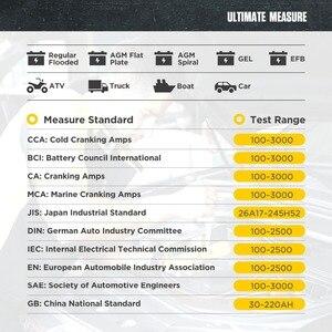 Image 3 - Autool BT660 12V Auto Batterij Tester Auto Zwengelen Opladen Tester Cca Voertuig Starten Diagnostic Tool Beoordeling Data Met Printer