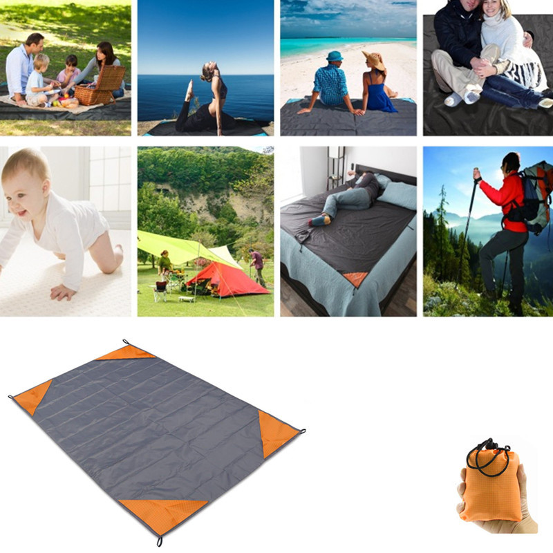 Beach Mat Manta Multijugador Family Folding Blanket Mini Pocket Pad Hiking Trail Baby Development Pad Parent-child Picnic Mat