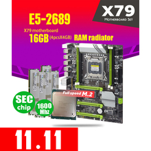 X79 Turbo Motherboard LGA2011 ATX Combos E5 2689 CPU 4pcs x 4GB = 16GB DDR3 RAM Radiator 1600Mhz PC3 12800R PCI E NVME M.2 SSD