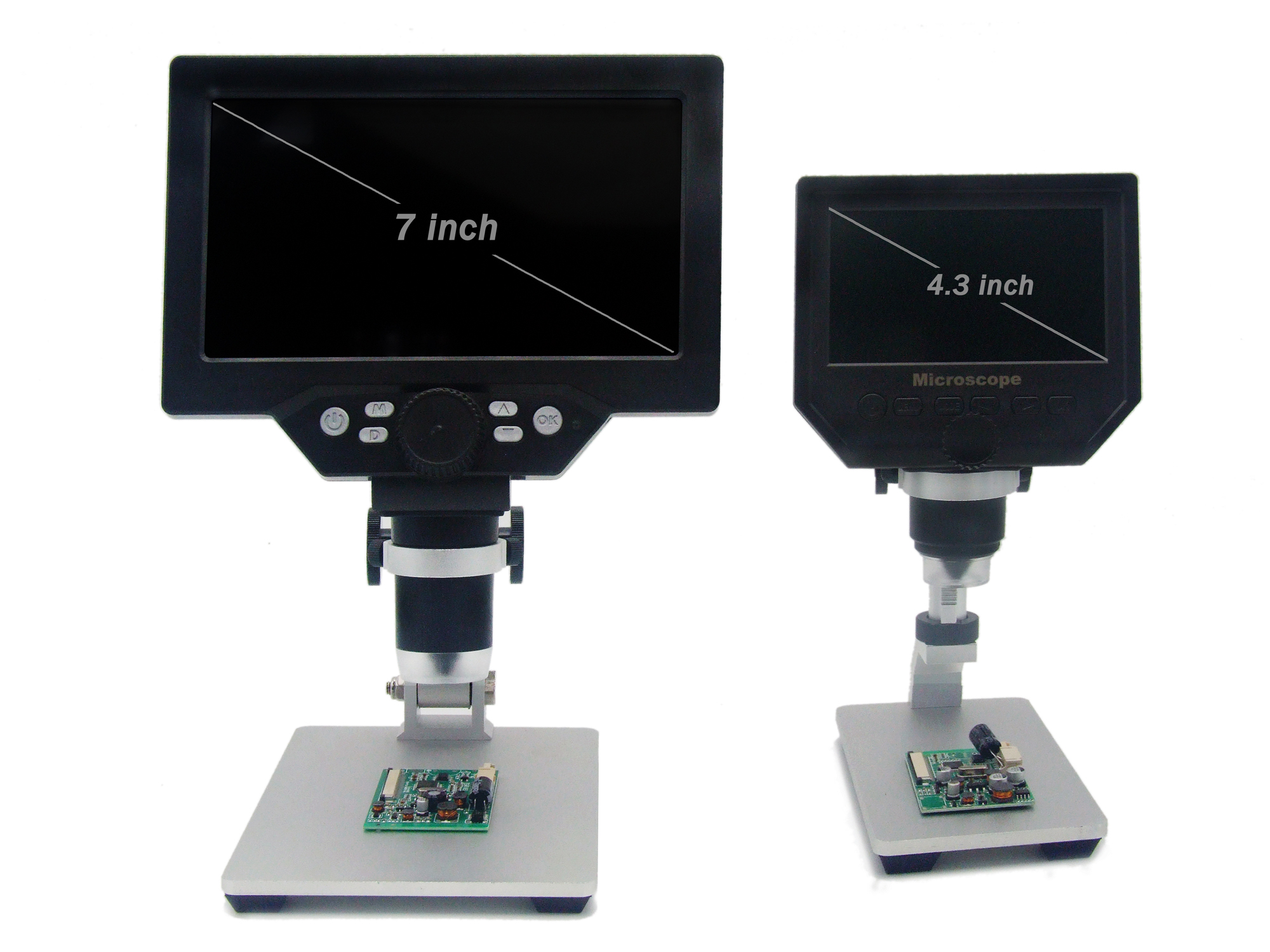 7' HD 12MP 1 1200X LCD Digital Microscope Electronic Video Microscopes Pcb BGA SMT Soldering Phone Repair Magnifier Alloy Stand - 5