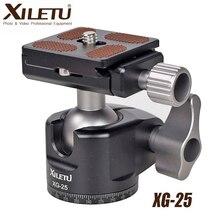 XILETU XG 25 المهنية بانورامي ترايبود رئيس الكرة 360 درجة سرعة الافراج سبائك الألومنيوم Ballhead جبل للكاميرا