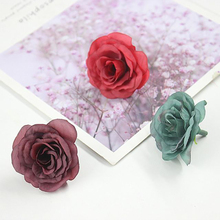 5Pcs/lot 4.5cm Artificial Flower Bud Small Tea Rose Head Diy Handmade Garland For Wedding Home Decoration
