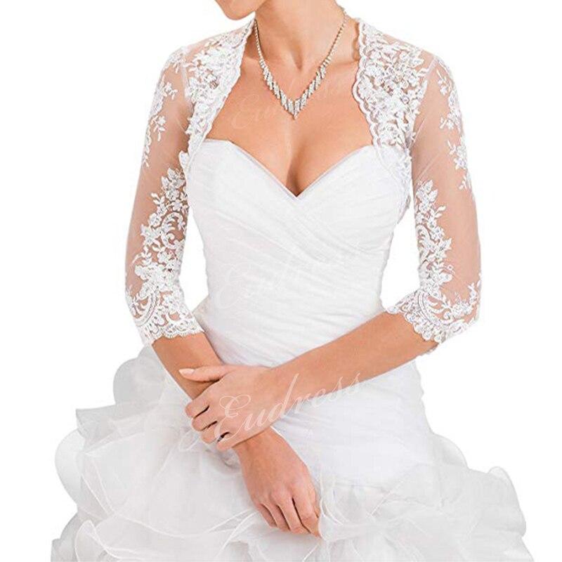 Elegant Wedding Wrap Shawl Sheer Tulle Lace Half Sleeve Cape Fashion Bridal Wedding Cover Up Jacket Women Summer Bolero