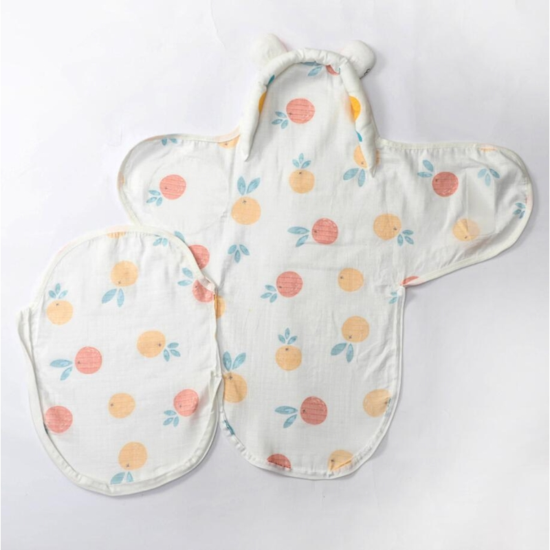 newborn receiving blanket baby bedding swaddle muslin summer swaddle wrap infantil couverture bebe head protection sleep bag