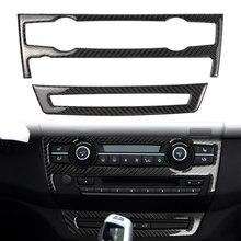 غطاء لوحة مفاتيح فتحة التهوية في السيارة من ألياف الكربون غطاء الكسوة لسيارات BMW E70 E71 X5 X6 2008 2009 2010 2011 2012 2013